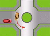 zona de tránsito en rotación