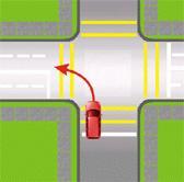 viraje a la izquierda desde una vía de tránsito en un solo sentido