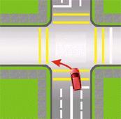 viraje a la izquierda desde una vía de doble tránsito