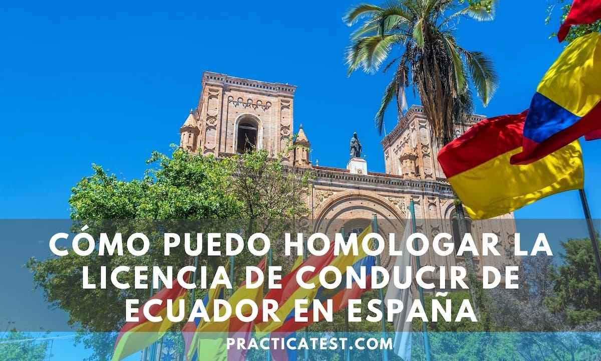 Canje de licencia de manejo Ecuatoriana en España