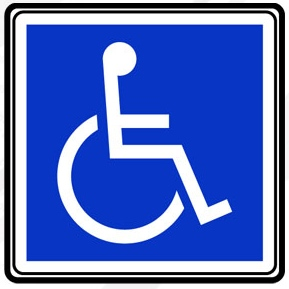 Reduced mobility and disability sign