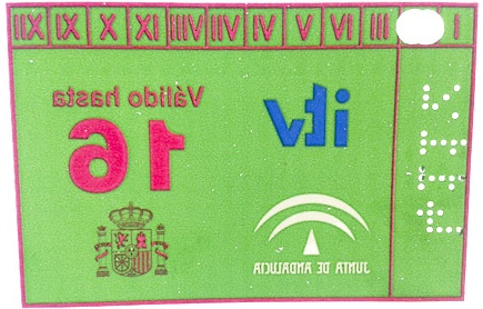 MOT (ITV) sticker
